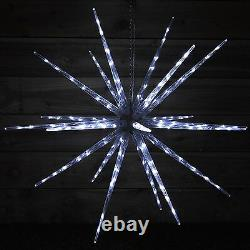 New Xmas Christmas White LED Starburst Fairy Light With Great Decorative Effect