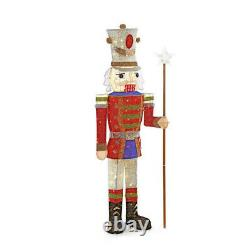 OUTDOOR NUTCRACKER SOLDIER Christmas Yard Decoration Warm White LED Lights