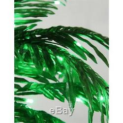 Outdoor Tropical Palm Tree 7' Tall LED Light Decoration Patio Deck Lighting