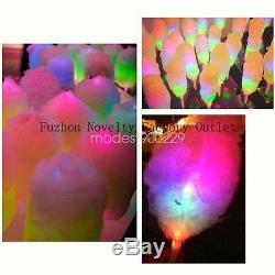 Party Christmas LED Cotton Candy Floss Sticks Child Glow Light-up Sticks 200pcs