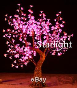 Pink Outdoor 5ft LED Cherry Artificial Tree Home/Garden/Holiday Night Light Deco