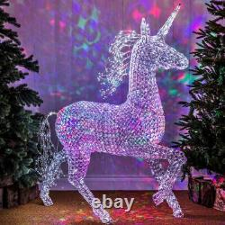 Plug In LED Light Up Outdoor Jewelled Stag Snowman Unicorn Christmas Decoration