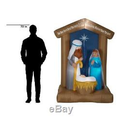 Pre-Lit Christmas Inflatable 6.5 ft. Nativity Archway Airblown Scene LED Lights