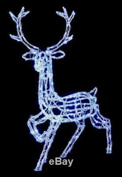 Premier Acrylic Standing Reindeer 300 LEDs Wh 1.4m Christmas Decoration