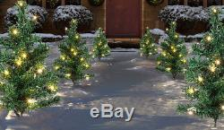 Premier Christmas Indoor Outdoor LED Tree Path Lights 6 Piece Warm White