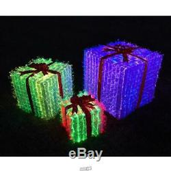 Prismatic Christmas Presents Outdoor Light showithLawn Decorations