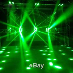 RGBW 120W LED Spider Moving Head Light Xmas Party Stage Lighting DJ DMX512 12CH