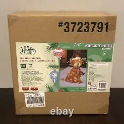 SOLD OUT! Holiday Living 27 Christmas LED Light Up Fluffy Doodle Dog 3723791