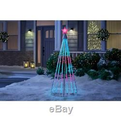 Show Home 63 in. Show Tree with Multi-Color LED Light