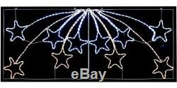 Stars Rope Light With 480 LEDs Xmas Lights Indoor Outdoor Christmas Decoration