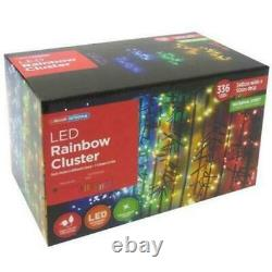 Super Bright 336 LED Rainbow Cluster Christmas Lights Indoor Outdoor XM0185