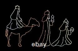 Three Wise Men LED light metal wire frame outdoor Christmas Display Decoration