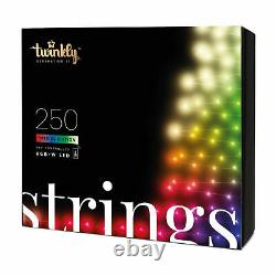 Twinkly 250 LED RGB Multicolor & White 65.5 ft. String Lights, WiFi Controlled