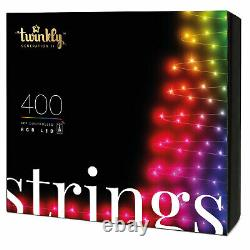 Twinkly 400 LED RGB Multicolor 105 Ft. Decor String Lights, Bluetooth WiFi