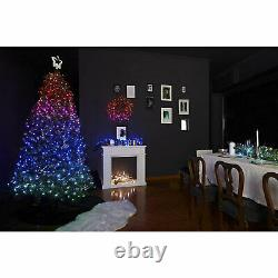 Twinkly 400 LED RGB Multicolor 19.5 Ft Cluster Lights, Bluetooth Control