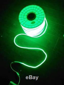 USA! 100ft LED Neon Rope Lights Flex Tube Sign Decor Outdoor Home Party Room BAR